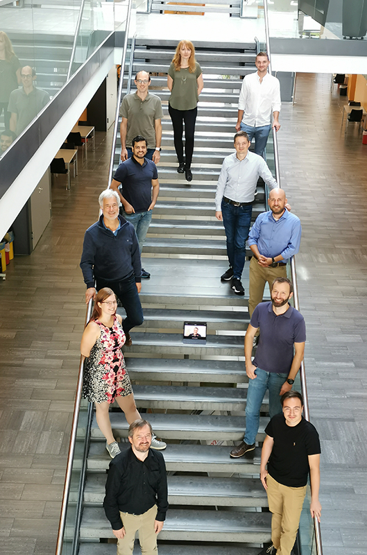 a picture of the whole project team at the location in linz